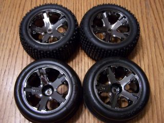 Traxxas 3707 RUSTLER VXL Tires Wheels Front Rear Tire Wheel Rims Rim