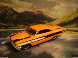 64 Ford Galaxie 2012 Hot Wheels Muscle Mania Ford Series Orange