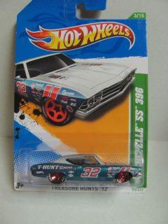 1969 Chevy Chevelle SS 396 Hot Wheels 2012 Treasure Hunt NEW ! Mint