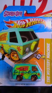 HOT WHEELS 2012 THE MISTERY MACHINE NEW MODELS NEW RARE VHTF US CARD