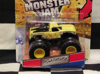Hot Wheels 2012 Bulldozer w Topps Card Monster Jam Truck