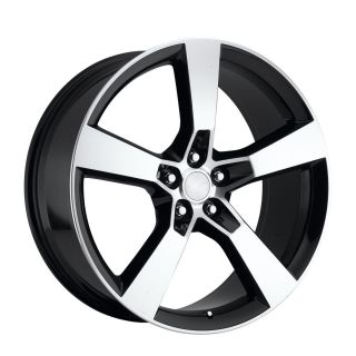 Staggered 2010 2011 2012 2013 Camaro SS Wheels Rims Black Machined
