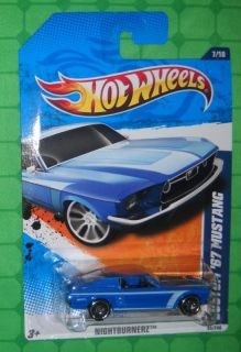 2010 Hot Wheels Nightburnerz Custom 67 Mustang Blue