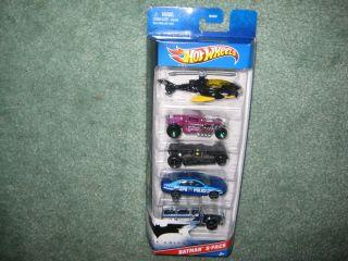 2012 Hot Wheels Batman 5 Pack New