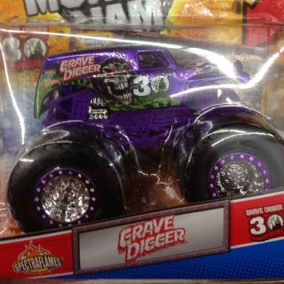 2012 Hot Wheels Monster Jam Truck Grave Digger Purple Spectra Flame