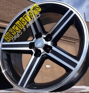 Black IROC Wheels Rims Tires 5x115 Chrysler 300 SRT 8 2009 2012