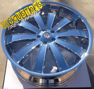 VERSANTE RIMS WHEELS TIRES VW225 5X150 CHROME LAND CRUISER 2009 2010