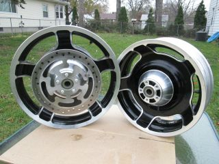 STREET GLIDE TOURING FRONT REAR WHEELS WITH ABS BEARINGS 2009 AND UP