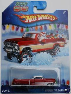 Hotwheels 2009 Holiday Rods Custom 53 Cadillac Red New