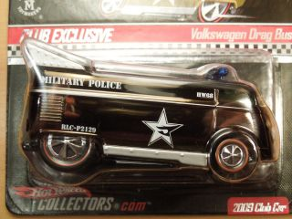 Hot Wheels Red Line Club 2009 Military Police Volkswagen Drag Bus with
