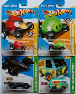 Hot Wheels 2012 Angry Birds Red Bird Minion Pig Scooby Doo Batman Live