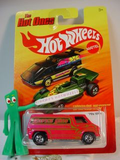2011 Hot Wheels Hot Ones Super 70s Van ★new Hot Pink★