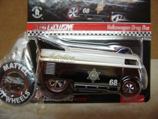 Hot Wheels RLC 2009 Exclusive Club Car Police VW Drag Bus 0060 4 000