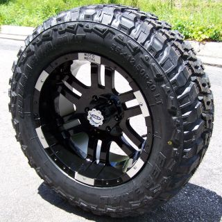 20 BLACK MOTO METAL 951 WHEELS 35 FEDERAL M T TIRES FORD F150 FX4 FX2