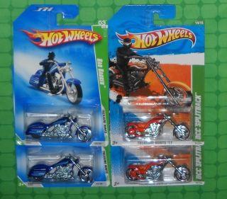 2009/ 2011 Hot Wheels Treasure Hunts x 4 OCC Splitback & Bad Bagger