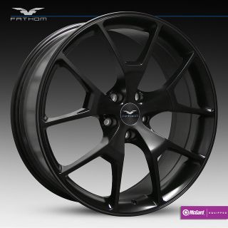 22 Fathom HD Radar Black Wheels Rims 5x4 5 114 3mm 40mm Honda Nissan