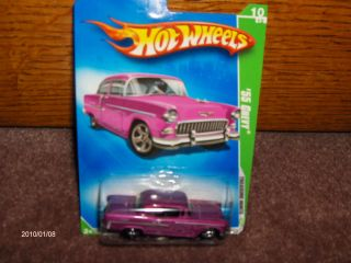 MATTEL HOT WHEELS TREASURE HUNT T 2009 09 TH HW 1955 55 CHEVY HOT ROD