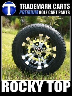 New 10x7 Vampire Golf Cart Wheels and Low Profile Tires