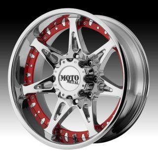 20 inch 20x10 Moto Metal Chrome Wheels Rims 5x5 5 5x139 7 24 Dodge RAM