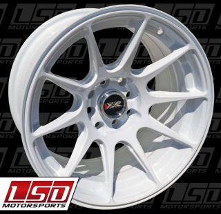 527 White Rims Wheels 16x8 25 0 4x100 2 Wheels Two Wheels Only