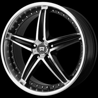Motegi MR107 107 Gloss Black Machined Wheels Rims 4 5 Lug