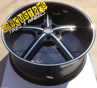 BLACK WHEELS TIRES RIMS 5X139 7 DODGE DURANGO 2005 2006 2007 2008