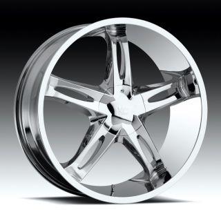 20 inch Vision Hollywood 5 Chrome Wheels Rims 5x5 5x127
