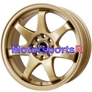 16 16x7 XXR 522 Gold Concave Wheels Rims 4x114 3 71DATSUN 210 510 240Z