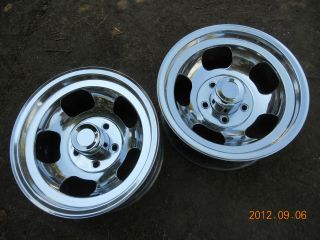 Just Polished 15x8 5 Slot Mag Wheels Chevy Truck Van Mags Gasser Indy