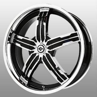 18 inch Black Ice Sigma Chrome Wheels Rims 5x4 5 Flex Five Hundred