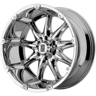XD BADLANDS CHROME 22 X 11 8X6 5 SILVERADO HUMMER F250 RAM WHEELS RIMS