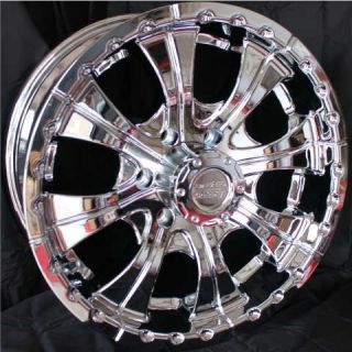 18 Inch 18x9 5 CHROME RIMS 6x5 5 Lifted Truck Chevy GMC Toyota Truck 6