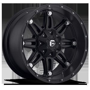 Hostage Wheel Set XD Black 18x9 Rims Fuel Matte Black 18inch