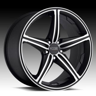 22 x 9 FOOSE Speed Camaro SS BMW 7 6 Series Wheels Rims Black