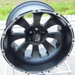 22x14 Black KMC XD Armour Wheels Rim Chevy GMC Sierra Dodge RAM 2500