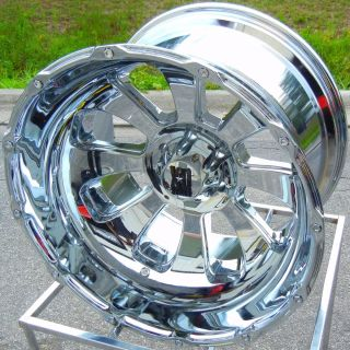 22x14 Chrome KMC XD Armour Wheels Rims Ford F150 Expedition FX4 4x4