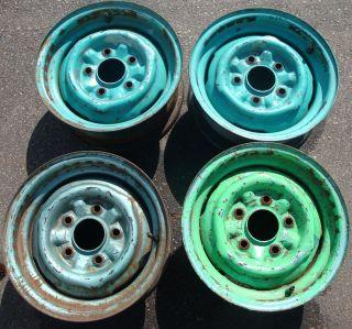 13 1965 66 67 68 69 Chevrolet Corvair Steel Wheels Rims AA0039