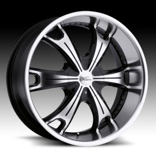 17 inch Milanni Stellar Black Wheels Rims 6x5 5 6x139 7 18 with Lugs