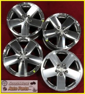 10 11 JEEP WRANGLER 18 MACHINED SILVER TAKE OFF WHEELS OEM RIMS 9076