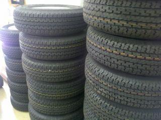 Tires 14 St 205 75D14 F78 14 Bias Trailer Spoke Wheels Rims 14