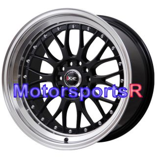 XXR 521 Black Machine Lip Rims Staggered Wheels 09 10 11 Nissan 370z