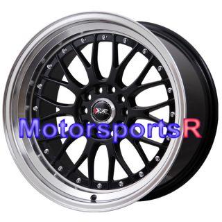 XXR 521 Black Machine Lip Rims Staggered Wheels 09 10 11 Nissan 370z