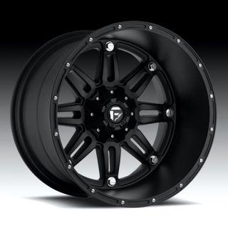 22 x 14 Fuel Hostage Black Deep 5 6 8 Lug Wheels Rims