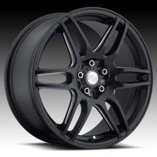 17 inch Niche NR6 Black Wheels Rims 5x115 Buick Century Regal Cadillac