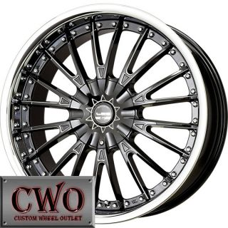 22 Black Falken LX M Wheels Rims 5x115 5x120 5 Lug Charger 300C BMW