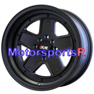 16 16x8 +0 XXR 532 Flat Black Wheels Rims Deep Dish Stance 4x100 Honda