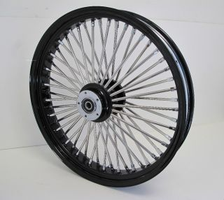 DNA Mammoth Fat 52 Spoke Black Wheel Harley 21x3 5 Softail or Touring