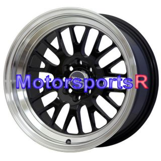15 15x8 XXR 531 Black Wheels Rims Deep Dish Stance 4x100 83 84 88 91