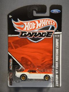 Hot Wheels Garage Real Riders Custom 67 Ford Mustang Coupe 14 Diecast