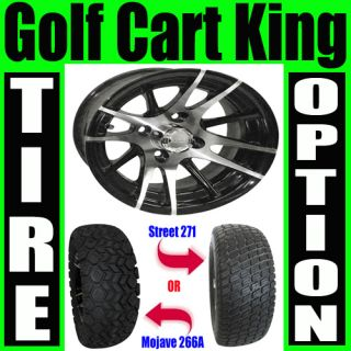Lifted Golf Cart 23 Tires and 12 Wheels Combo RX101 Machined with